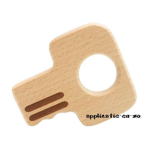 Bijtring sleutel hout