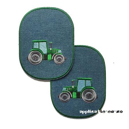 kniestukken trekker groen (opstrijkbaar)