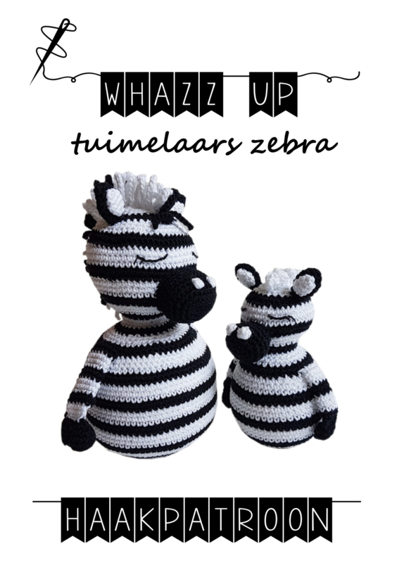 WHAZZ UP haakboekje (set) tuimelaars zebra