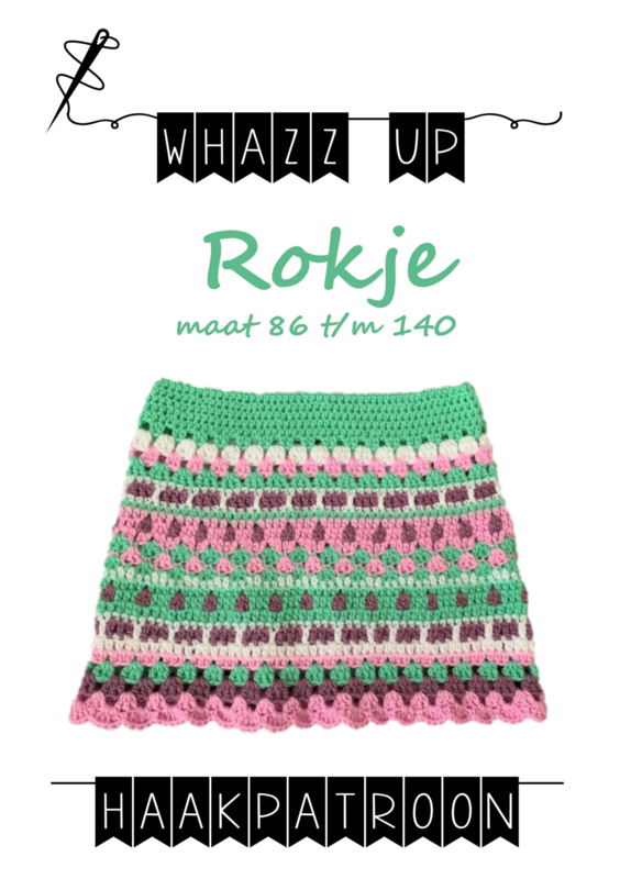 WHAZZ UP haakpatroon rokje mint maat 80 t/m 140