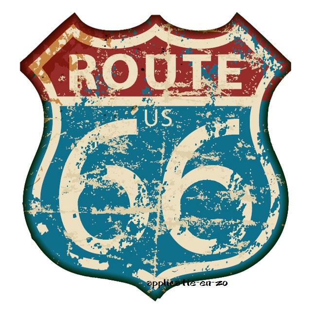 SUPER full color strijkapplicatie route 66