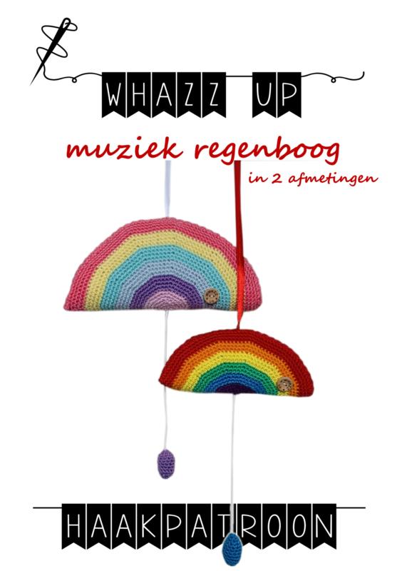 WHAZZ UP haakpatroon muziek regenboog