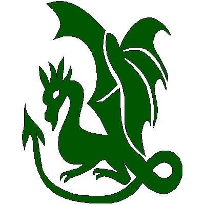 veloursmotief draak groen