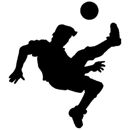 veloursmotief van een voetballer