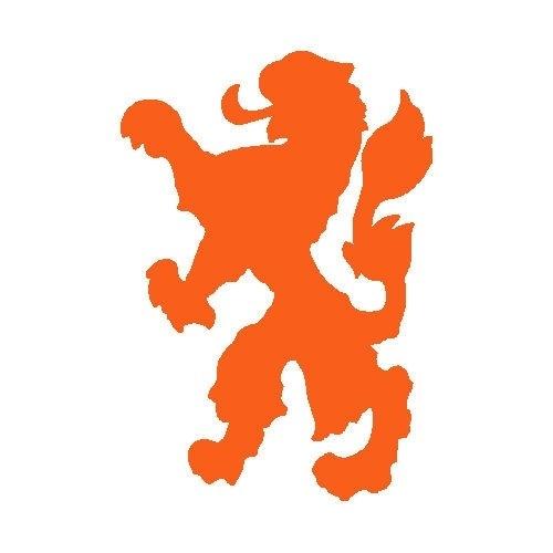 veloursmotief Hollandse (voetbal) leeuw (oranje, wit of zwart)