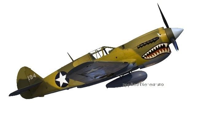 SUPER full color strijkapplicatie 'fighter plane'
