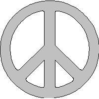 veloursmotief wit peace teken