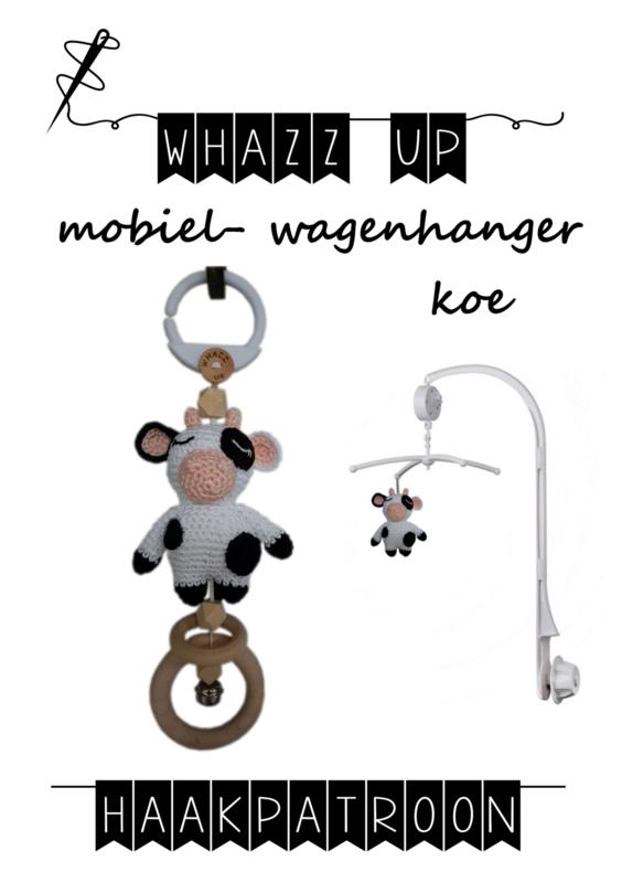 WHAZZ UP haakpatroon koe voor mobiel/ box/ wagenhanger