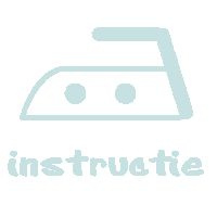 strijkinstructie strijkletters/ teksten