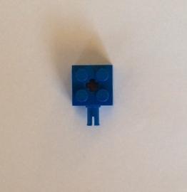 Steen 2x2 blauw met pin (6232)