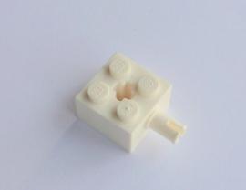 Steen 2x2 wit met pin (6232)