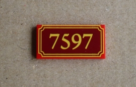 """Tegel """"7597"""" (87079pb006)"""