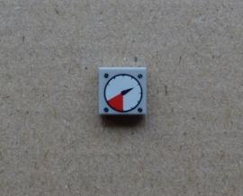 Tegel met rood-wit metertje (3070bp07)