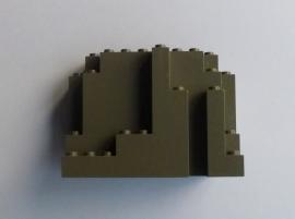 Rechthoekige rots donkergrijs BURP (6082)