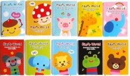 Ieniemienie klein notitieboekje Happy World