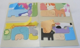 Mini post-its dierenpuzzel: puzzel point markers