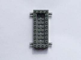 Basis blauwig donkergrijs 4x10 met pinnen en opstaande rand (30643)