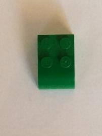 Steen 2x3 half afgerond groen (6215)