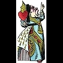 Alice in Wonderlands Queen of hearts kaart