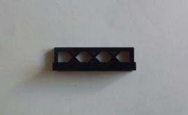 Laag hekje zwart (3633)