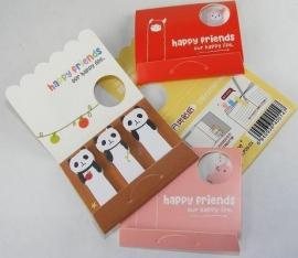 Mini dierenplakbriefjes Happy Friends