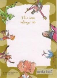 Roald Dahl ex libris plaatjes