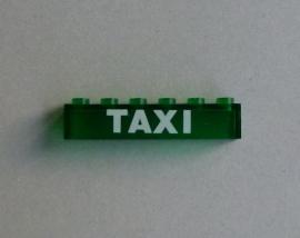 Steen met opdruk Taxi (3067pb07)