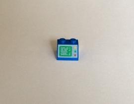 Helling met computer blauw (3039p23)