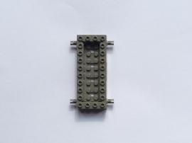 Basis donkergrijs 4x10 met pinnen en opstaande rand (30643)