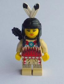 Indianenvrouw met pijlenkoker (ww018)