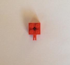 Steen 2x2 rood met pin (6232)