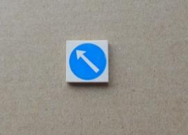 Tegel verkeer blauw (3068bp50)