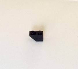 Omgekeerde helling 1x2 zwart (3665)