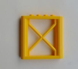 Steunhek 1x6x5 geel (64448)