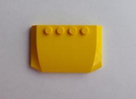 Wig 4x6x 2/3 gebogen geel (52031)