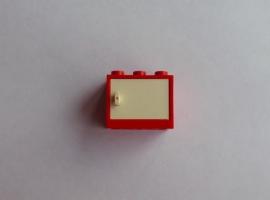 Rood kastje met witte deur (4532a + 4533)