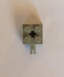 Steen 2x2 lichtgrijs met pin (6232)