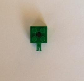 Steen 2x2 groen met pin (6232)