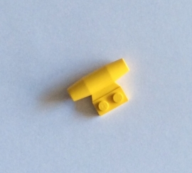 Vliegtuigmotor geel (3475b)