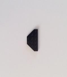 Plaat 3x6 zonder hoekjes zwart (2419)