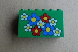 Steen met bloemen (6213pb01)