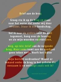 Plint poster Brief aan de brug - Ted van Lieshout