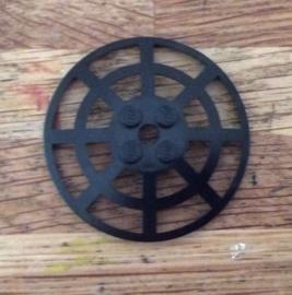 Disc 6x6 zwart web (4285b)