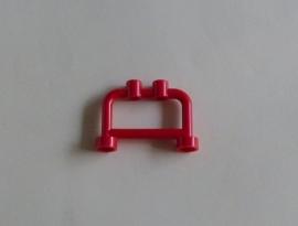 Hekje/bar rood met twee noppen (4083)
