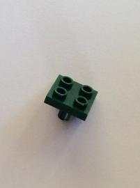 Plaatje 2x2 met pin aan onderzijde donkergroen (2476)