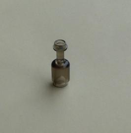 Fles transparant zwart (95228)