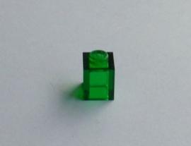 Steen 1x1 transparant groen (3005)