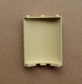 Muurdeel kwartrond tan / beige (30562)