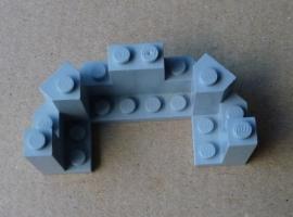 Kantelen voor kasteel grijs 6606