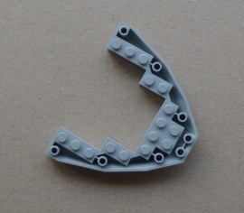 Lego boot boog lichtgrijs (2622)